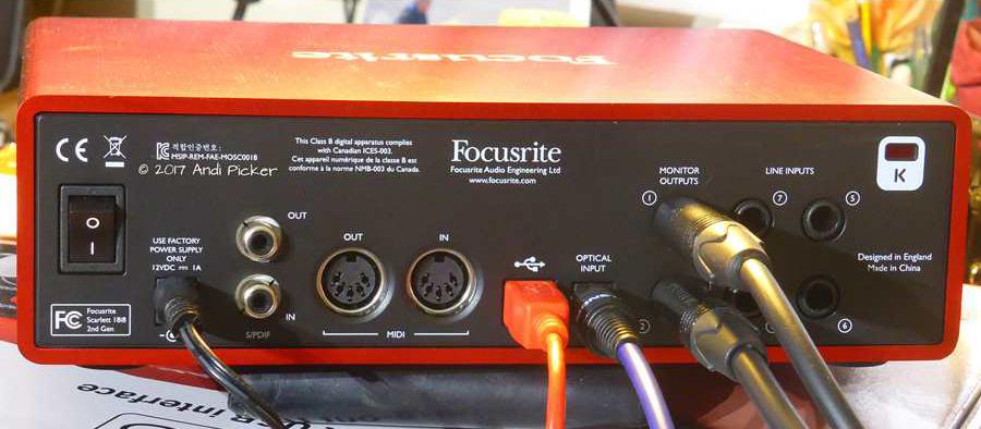 Focusrite scarlett 18i8 recensione ed esperienza cuffie pro for Cuffie antirumore per studiare